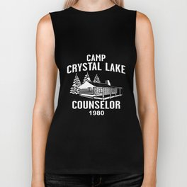 Camp Crystal Lake Counselor Friday 13Th Jason Voorhees Freddy Camp T-Shirts Biker Tank