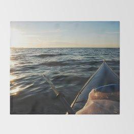 Kayaking Port Angeles Throw Blanket