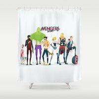aquaman Shower Curtains featuring Band by Andres Moncayo