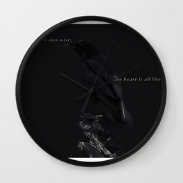 raven blue Wall Clock