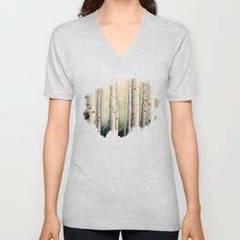 Birch wood at Midsummer Unisex V-Neck