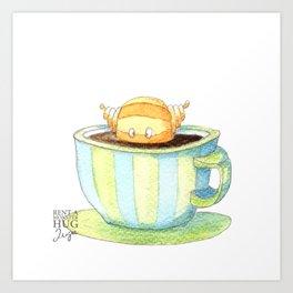 Coffee monster Art Print