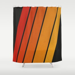 Retro 70s Stripes Shower Curtain