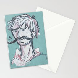 Mustache Man Stationery Cards