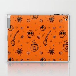 Halloween symbols seamless pattern Laptop & iPad Skin