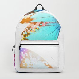 Turquoise Butterfly Backpack