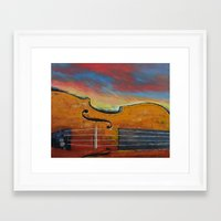 violin Framed Art Prints featuring Violin by Michael Creese