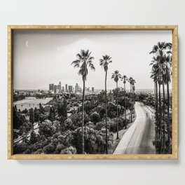 Los Angeles Black and White Serving Tray