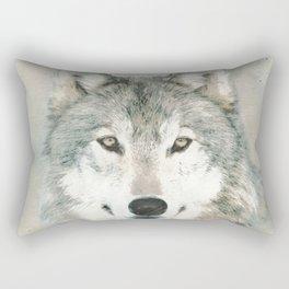 The Gray Wolf - Sketch Rectangular Pillow