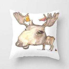 NORDIC ANIMAL - MURIAL THE MOOSE / ORIGINAL DANISH DESIGN bykazandholly  Throw Pillow