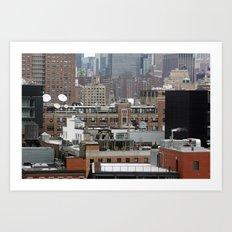 Busy city, NYC Art Print