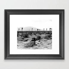 Vintage Desert in Black And White Framed Art Print