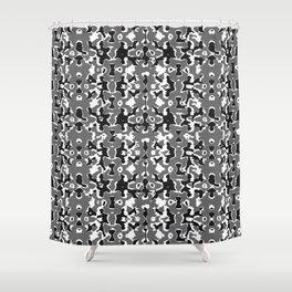 Dark Camo Style Design Shower Curtain