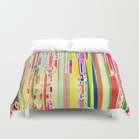 acid Duvet Covers featuring Citric Acid by Lynsey Ledray
