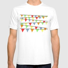 Bunting Mens Fitted Tee White SMALL