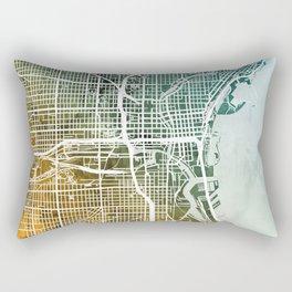 Milwaukee Wisconsin City Map Rectangular Pillow
