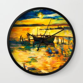 Boat Wall Clock