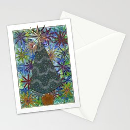 Christmas D3 - Triangle Tree Stationery Cards