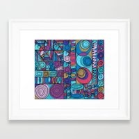 stained glass Framed Art Prints featuring Stained Glass by Helene Michau
