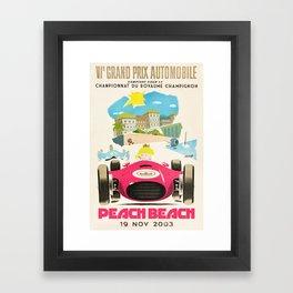 Peach Beach Grand Prix Framed Art Print