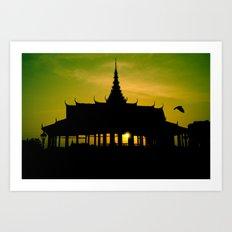 Royal Palace, Phnom Penh Art Print