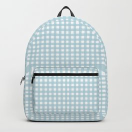 Farmhouse Gingham in Dusty Blue Backpack