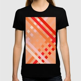 Crisscross Coral and Taupe T-shirt