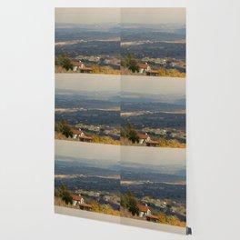 Sunset Italian countryside landscape view Wallpaper