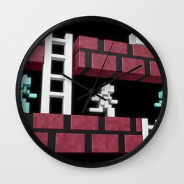 Inside Lode Runner Wall Clock