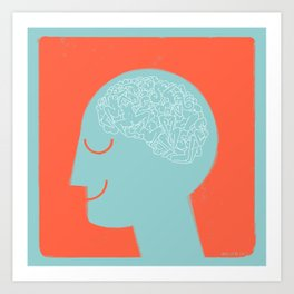 [male] Human Mind Art Print