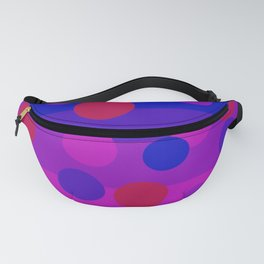 Sweet Berry Pie with Floating Circles Fanny Pack