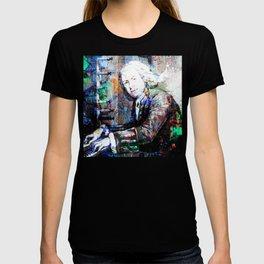 Bach Composer Musician Collage Portrait T-shirt