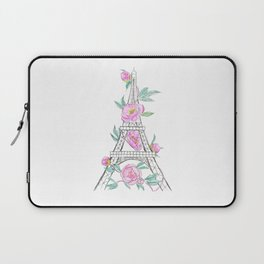 Eiffel tower and peonies Laptop Sleeve