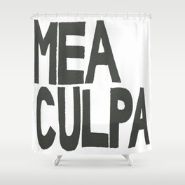 MEA CULPA Shower Curtain