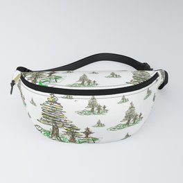 Trees on White Fanny Pack