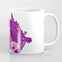 gengar Mugs featuring Clefable and Gengar by Ida Dobnik