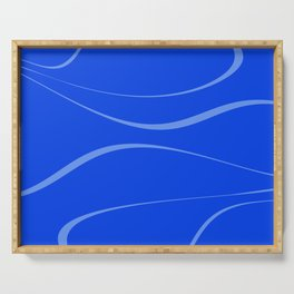 Abstract blue. Serving Tray