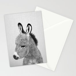 Donkey - Black & White Stationery Cards