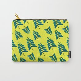 Leaves in Yellow Carry-All Pouch