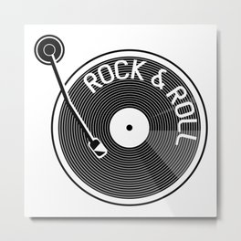 Rock & Roll Record Metal Print