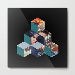 Cubes collage Metal Print