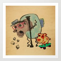 doge Art Prints featuring Doge Doge woof woof by creativeleo