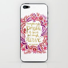 Anything's Possible – Gold & Red iPhone & iPod Skin