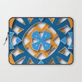 aztec mandala sun blue Laptop Sleeve