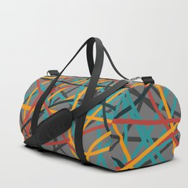 Colored Line Chaos #6 Duffle Bag