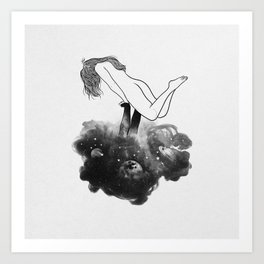 Hands from heaven. Art Print