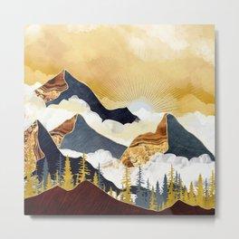Misty Peaks Metal Print