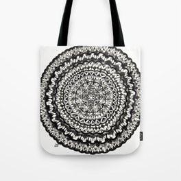 Pen and Ink Mandala Tote Bag