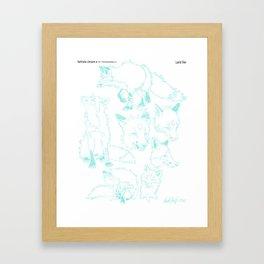 Lord Fox character design, pencil Framed Art Print