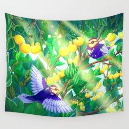 The seasons | Summer birds Wall Tapestry